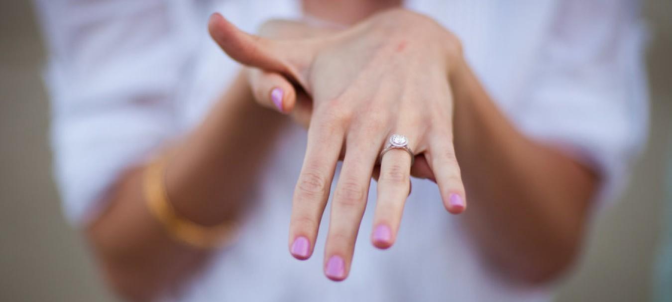 A história do anel de noivado