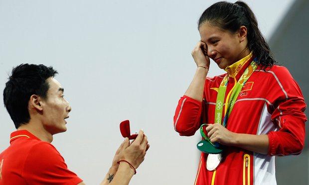 Olimpíadas do Amor: os pedidos de casamentos na RIO 2016