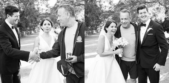 """Tom Hanks """"invade"""" sessão de fotos de casamento em NY"""