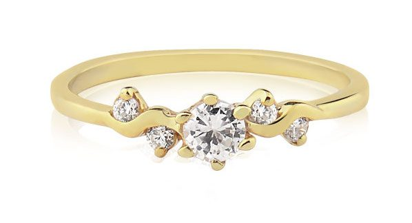 anel de noivado Belle