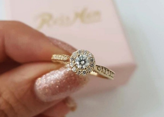 Anel de noivado perfeito