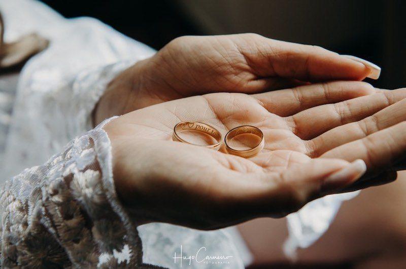 alianças de casamento com gravações
