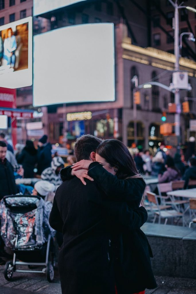 Pedido de casamento na Times Square