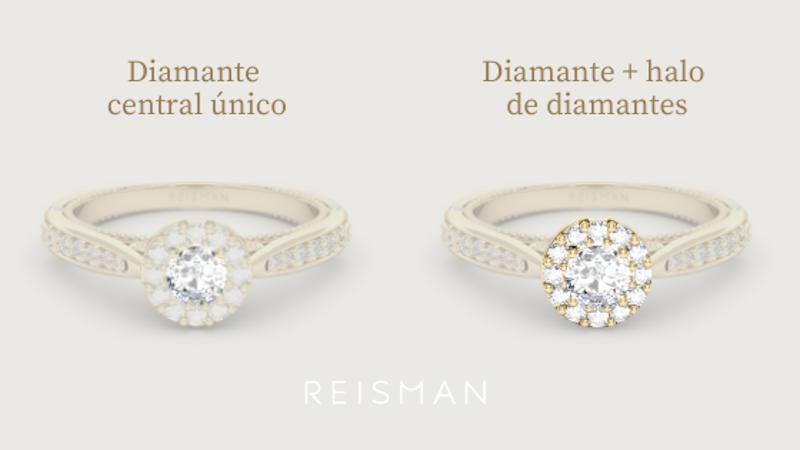 Anel de Diamante com halo
