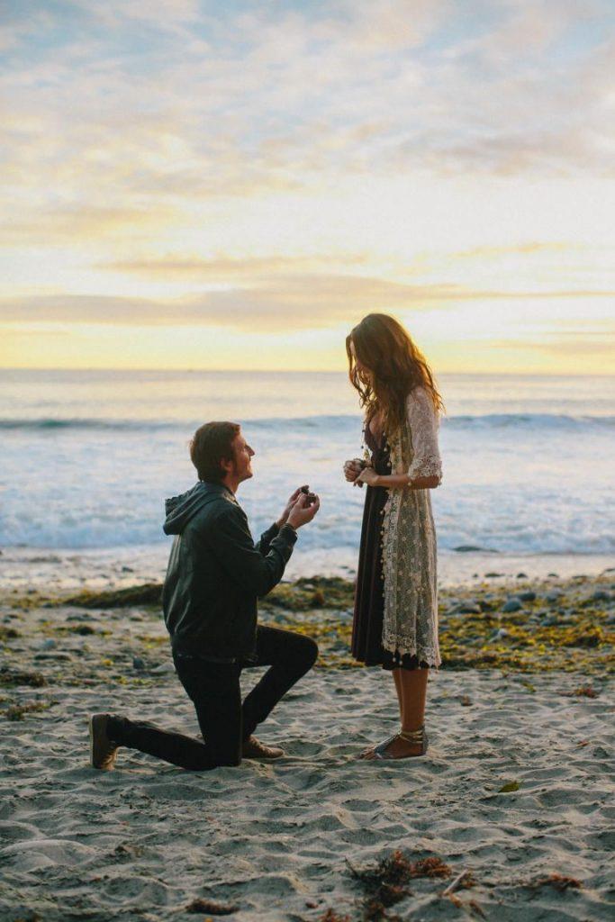 pedido de casamento na praia