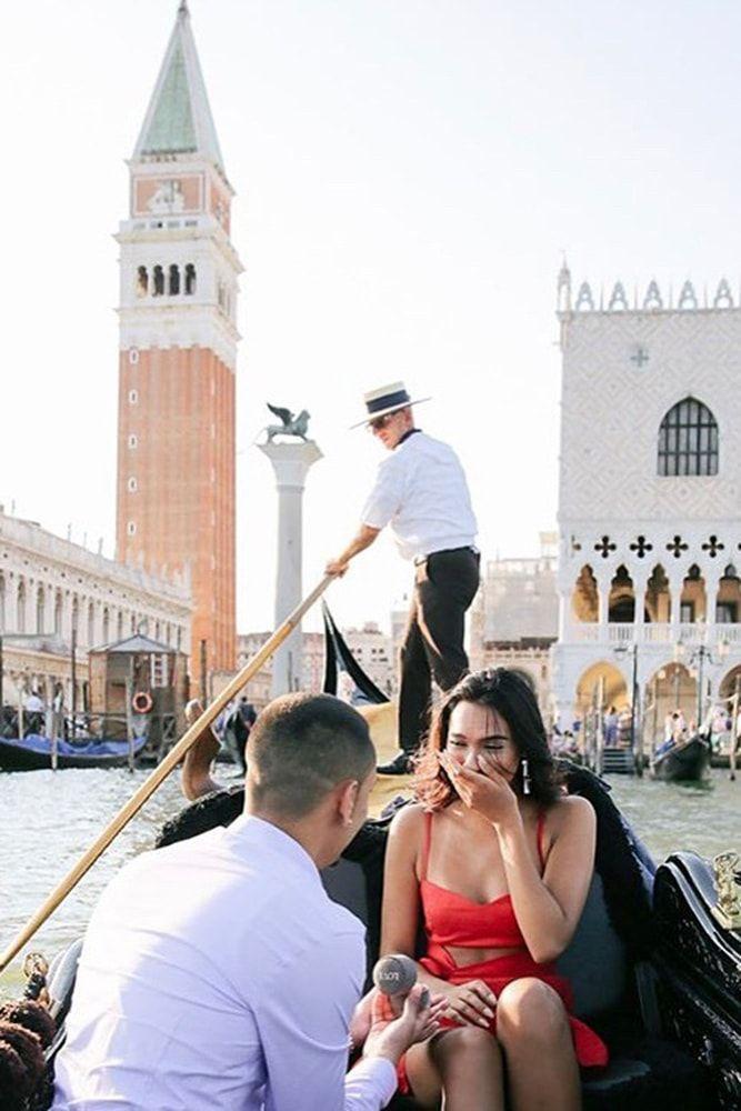 pedido de casamento em veneza