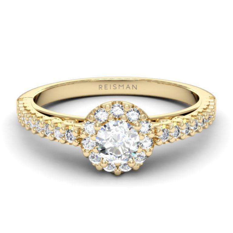 Anel de noivado em ouro e diamantes