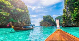 Um pedido surpresa no pôr do Sol da Tailândia
