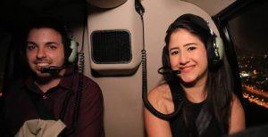 Pedido de casamento em passeio de helicoptero