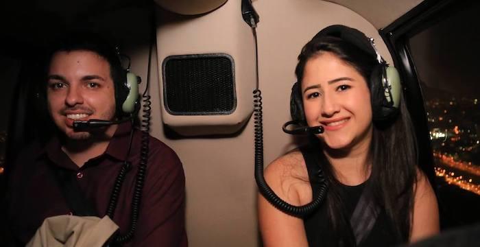 Nas alturas: pedido de casamento em um passeio de helicóptero em SP