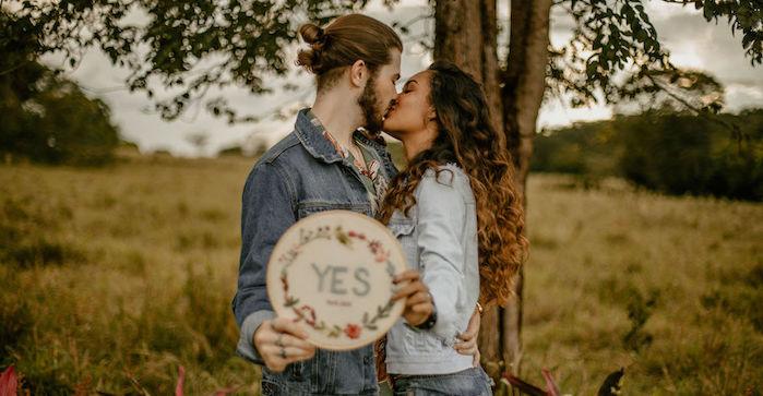 Pedido de casamento surpresa (padrão Pinterest) em ensaio de fotos!