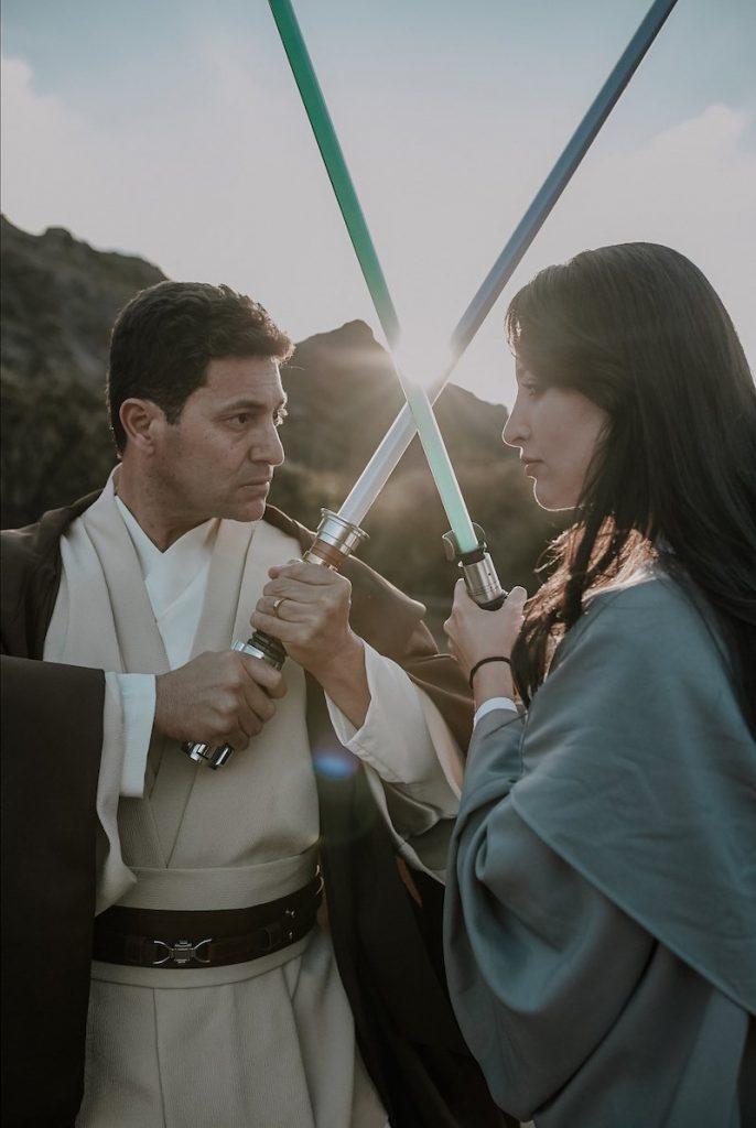 foto de casal de star wars