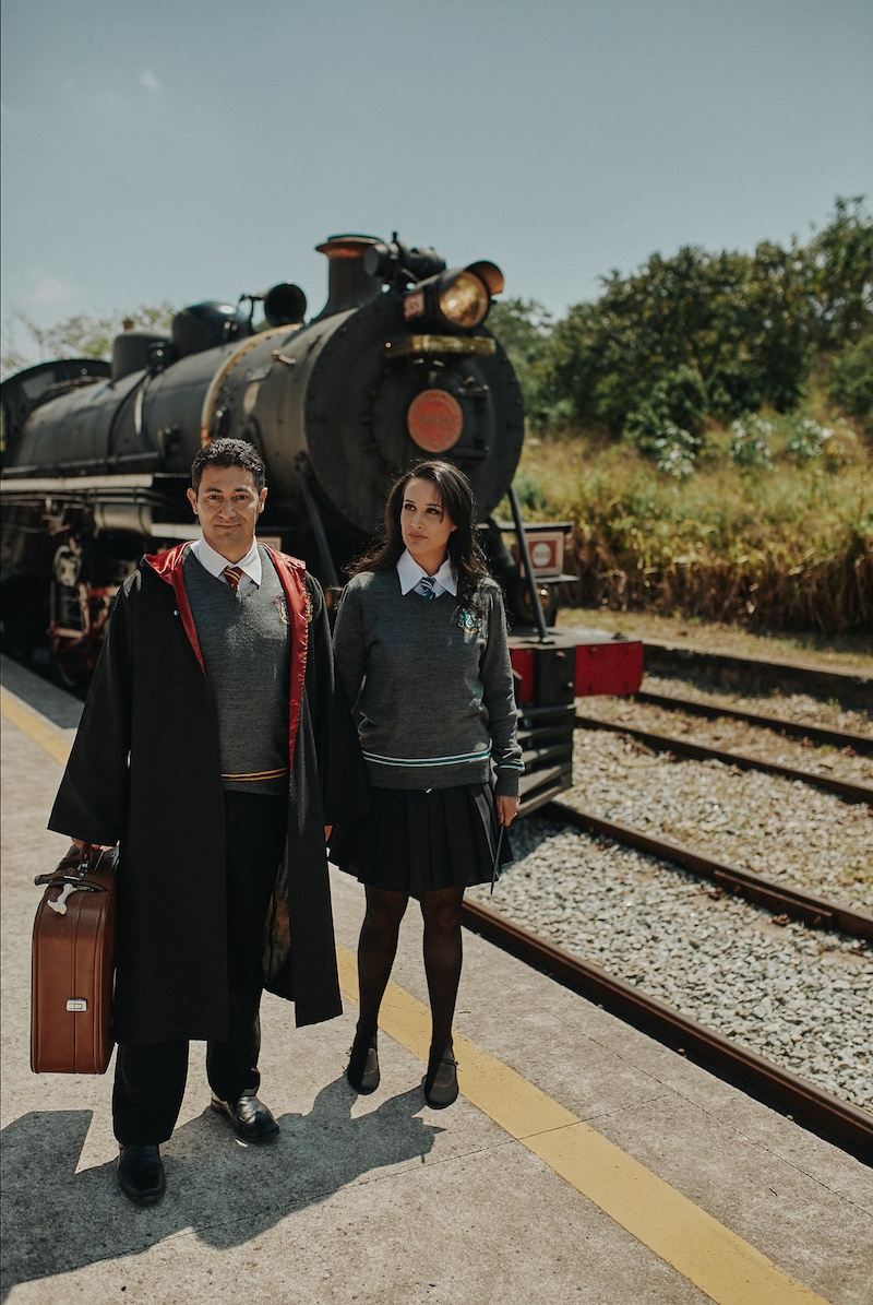 Ensaio fotográfico casal Harry Potter casal