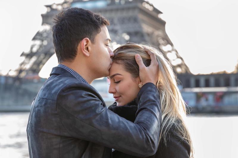noivos em Paris