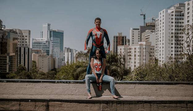 ensaio fotográfico de casal geek