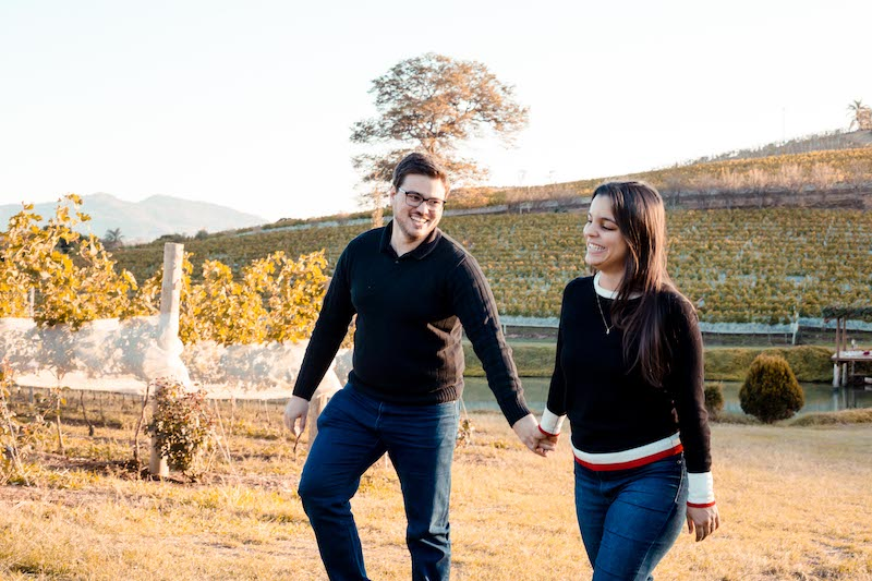 pedido de casamento ao ar livre