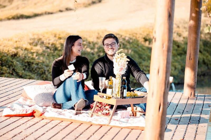 pedido de casamento em uma vinícola