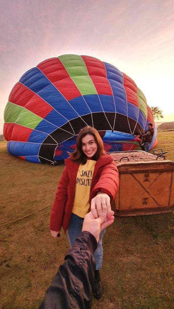 pedido de casamento em passeio de balão