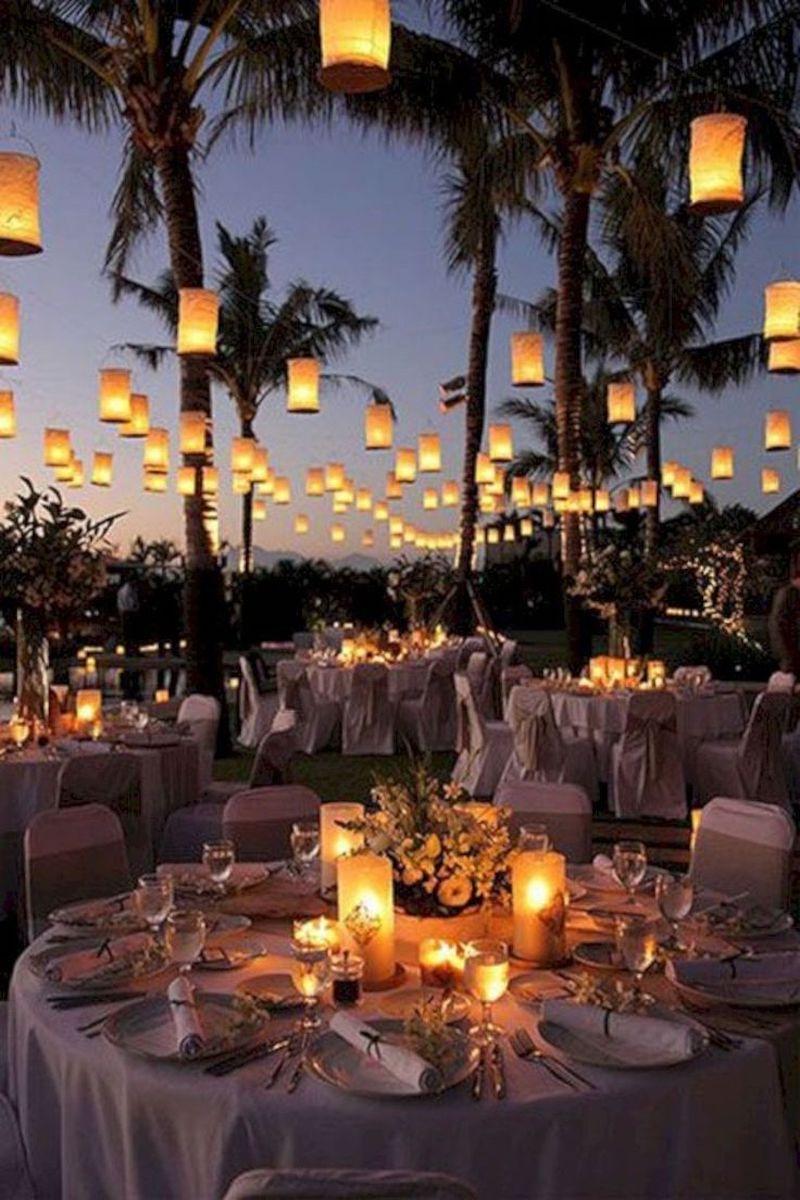 iluminação de casamento com velas