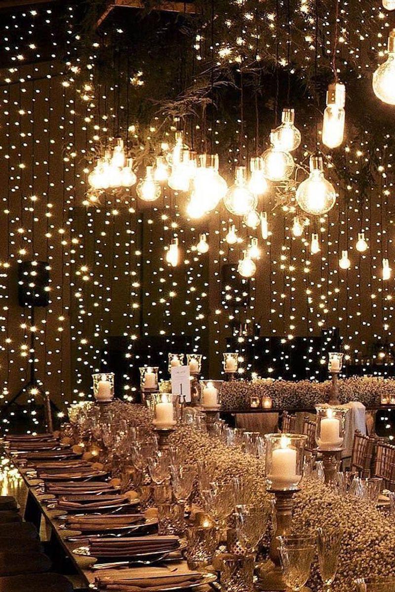 iluminação com velas para casamento