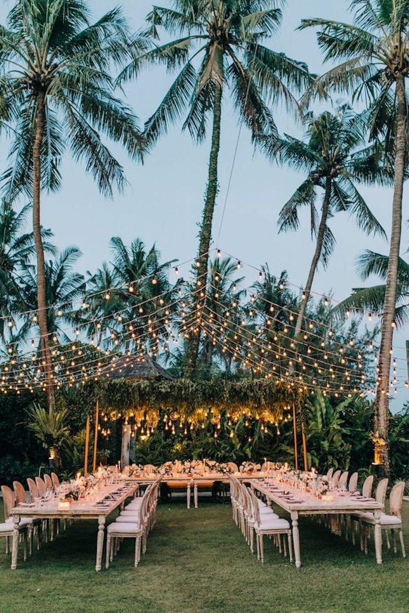 decoração com luzes para casamento