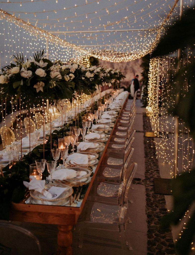 iluminação para festa de casamento