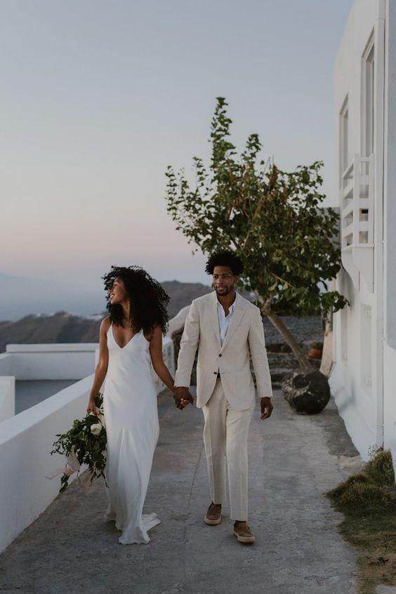 elopement wedding em Santorini