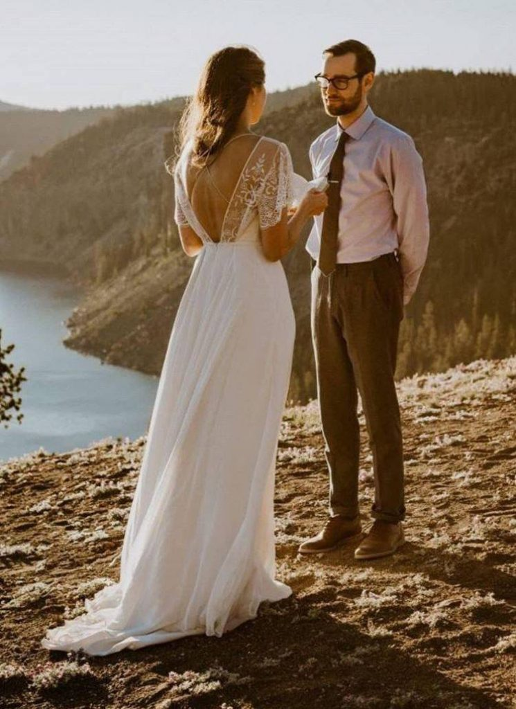 votos no elopement wedding