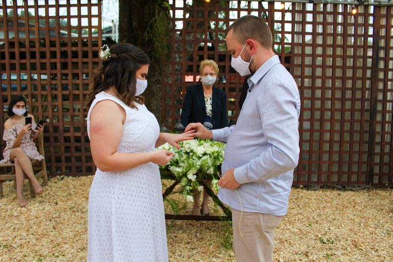 cerimônia de casamento durante a pandemia