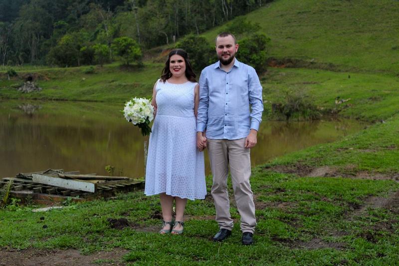 casamento ao ar livre de clientes reisman