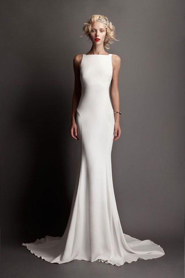 vestido de noiva branco reto
