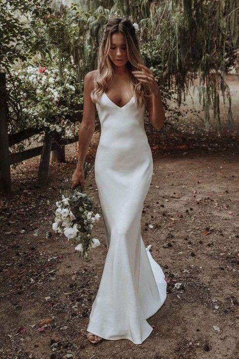 vestido básico de noiva