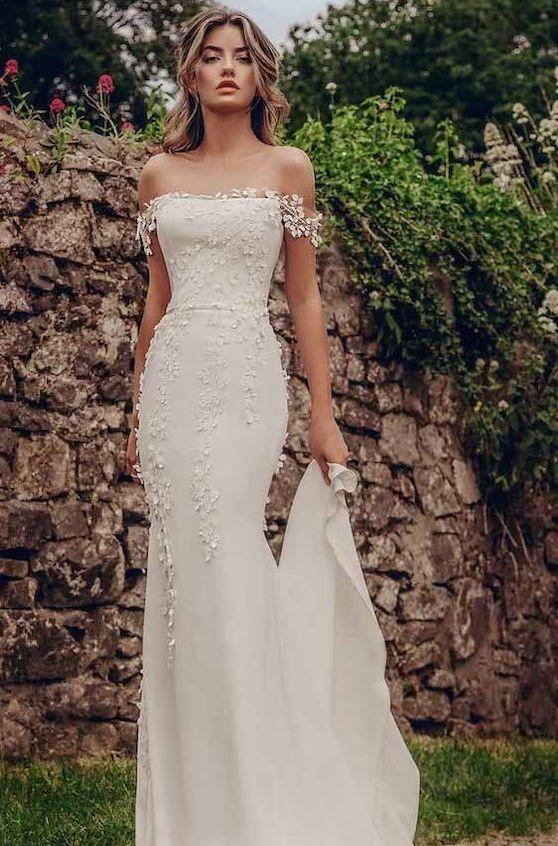 vestido de noiva simples rendado