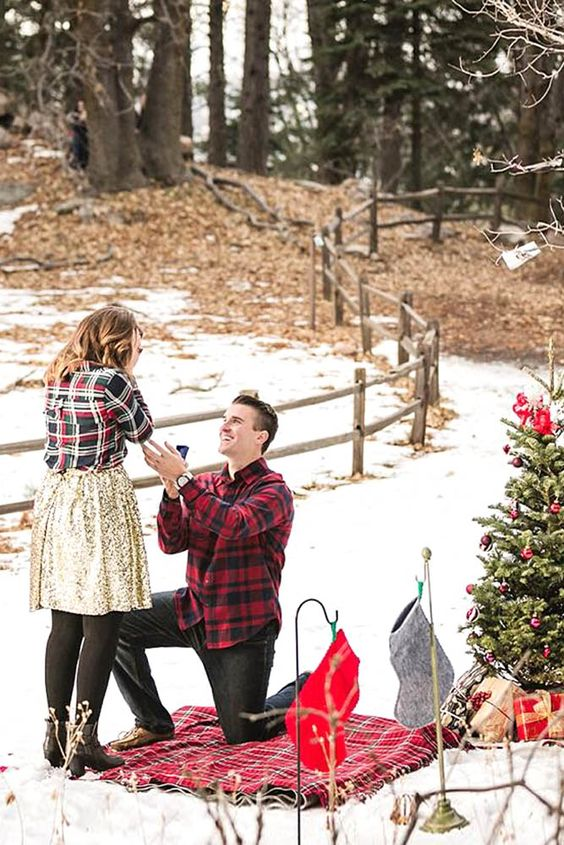 pedido de casamento surpresa no natal