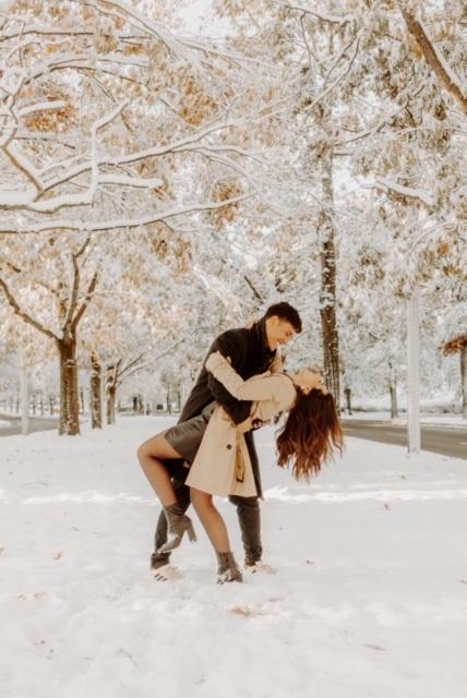 ensaio fotográfico na neve