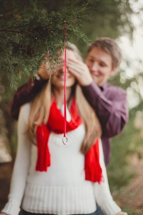pedido de casamento no natal