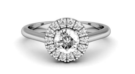anel de noivado com banho de ródio