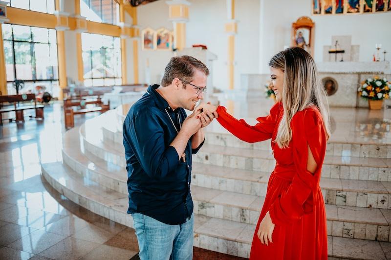 pedido de casamento surpresa no altar
