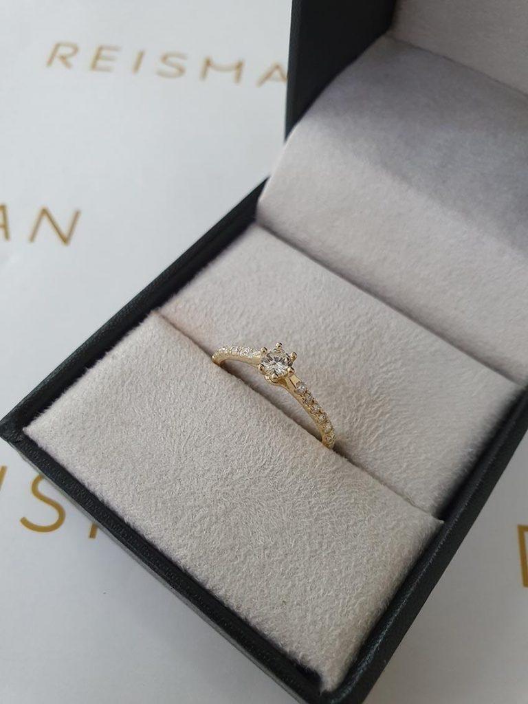 anel de noivado Reisman