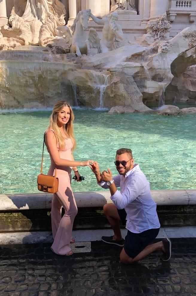 Pedido de casamento na italia