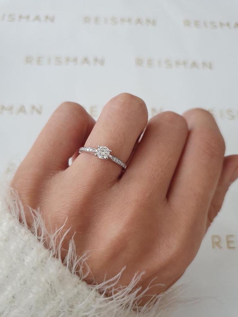 tipo de anel de noivado solitário