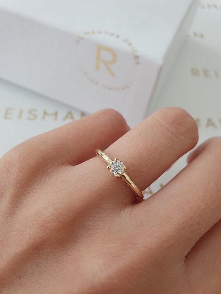 anel de noivado solitário Olimpo