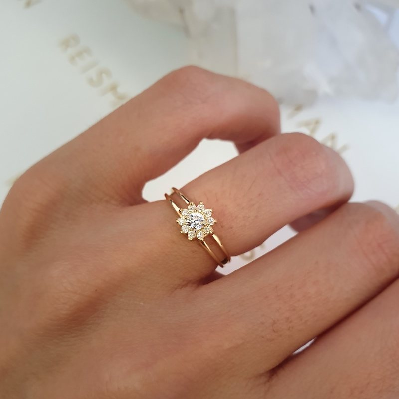 anel de noivado florence