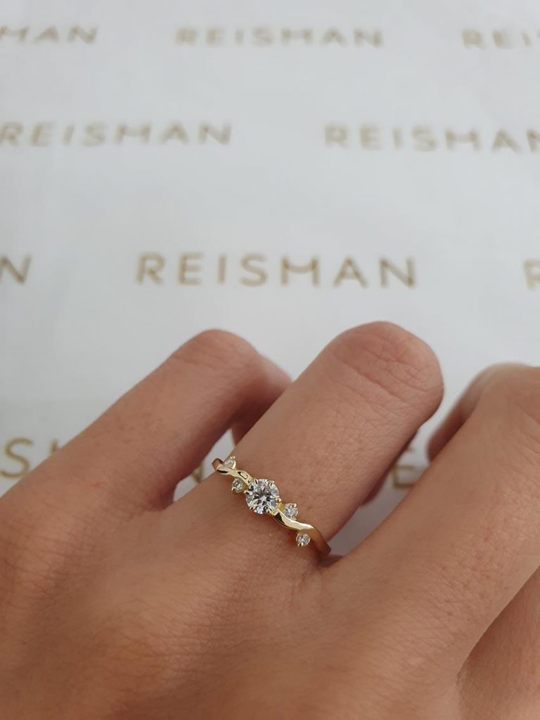 tipo de anel de noivado com design moderno