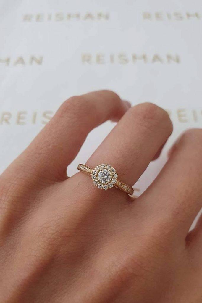 tipos de anel estilo halo ring
