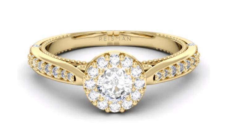 tipo de anel de noivado Halo Ring