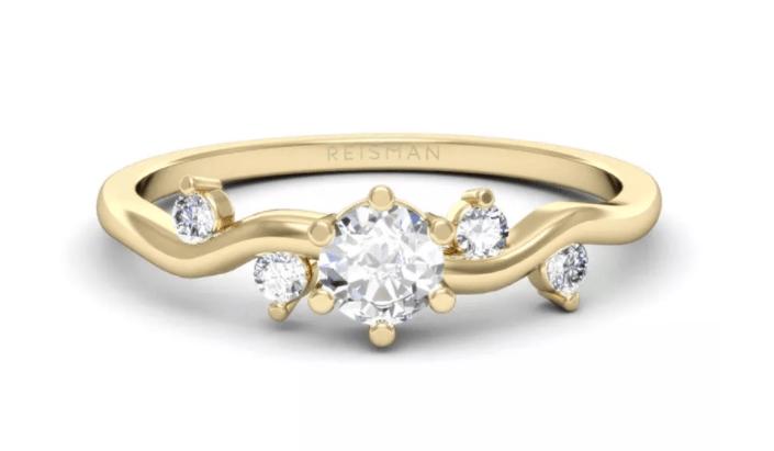tipo de anel solitário com design moderno