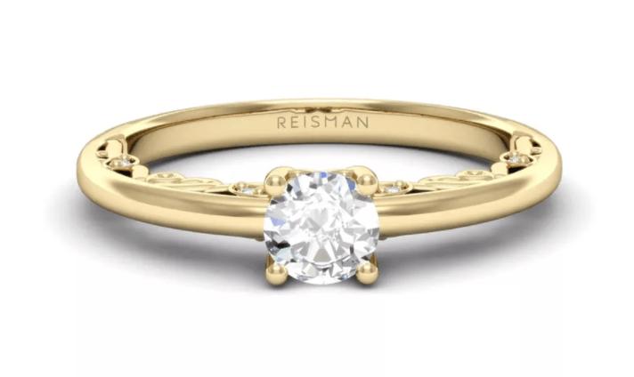 tipo de anel de noivado lateral adornada