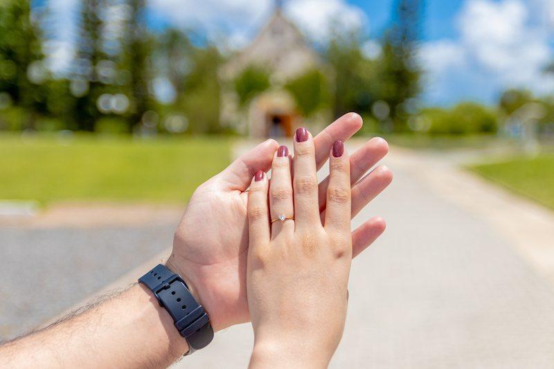 tipo de anel de noivado solitário coração