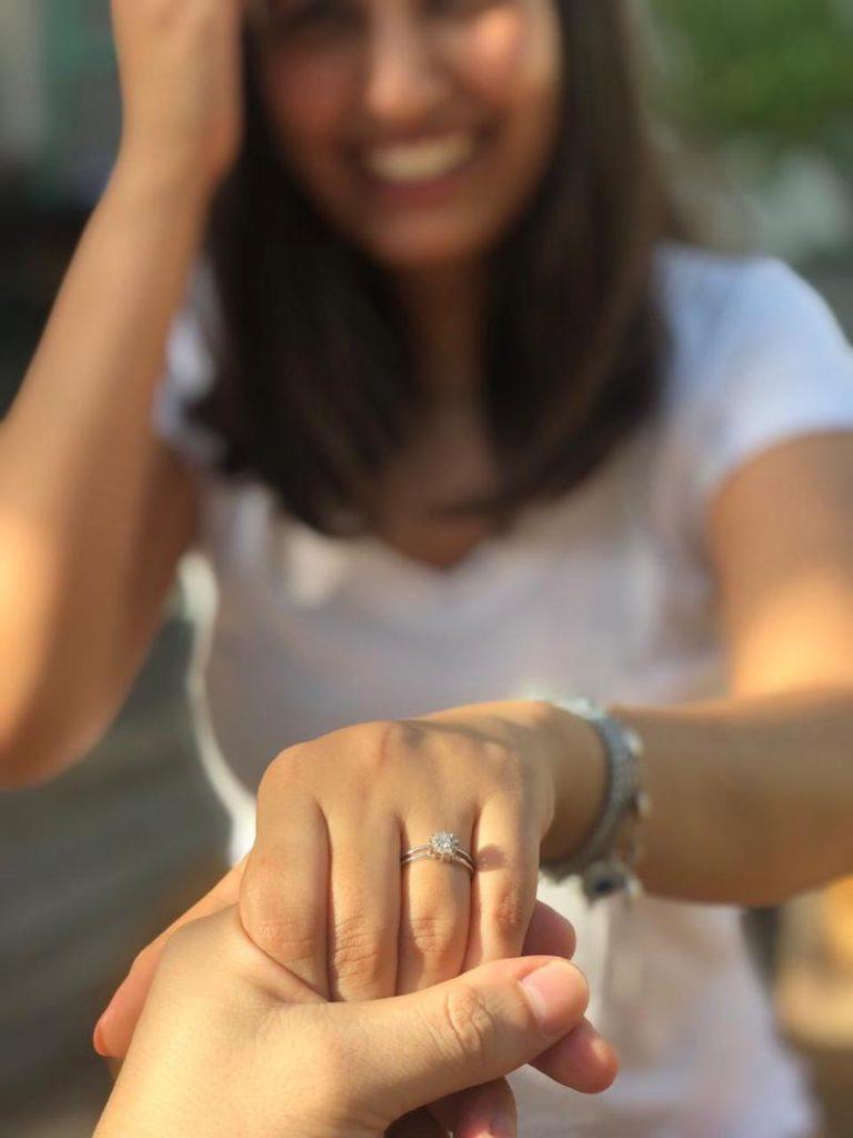 pedido de casamento casal português e brasileira